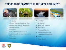 Topics to be examined in the NEPA document