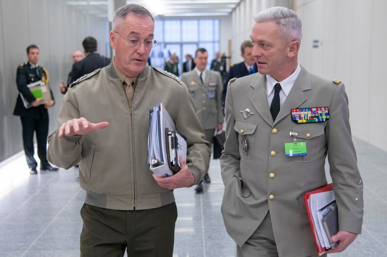 Joint chiefs chairman meets with French counterpart