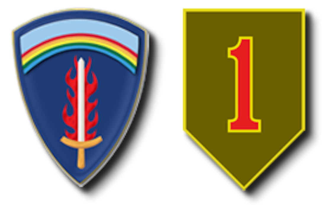 US Army Europe & 1st Infantry Division shoulder patches