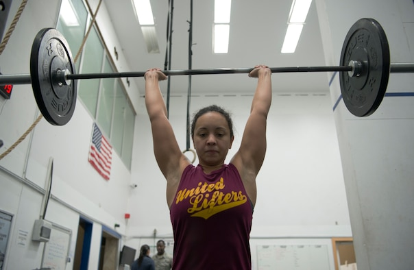 West placed first in both the 2017 and 2018 annual Spangdahlem Powerlifting Competition female category