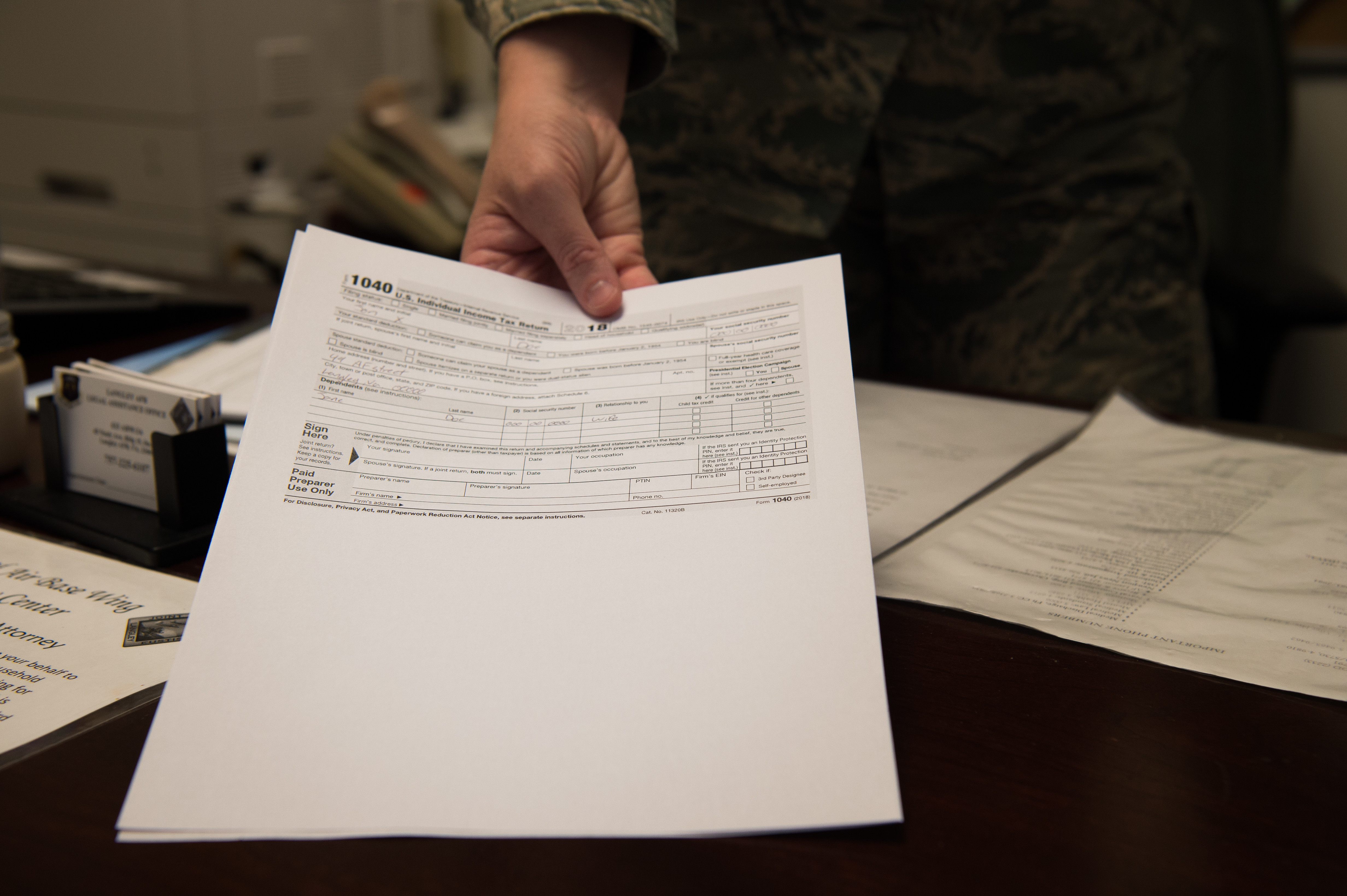 Tax centers assist service members and families > Joint Base