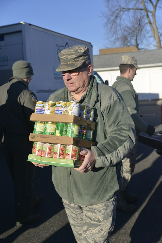 Westover Airmen donate to local food pantry.