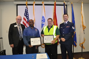 On Jan. 17, 2019, two supervisors of the Coca-Cola Company in American Canyon were honored with a Patriot award, submitted by their reservist employee, Tech. Sgt. Michael J. Simas, who is assigned to the 55th Aerial Port Squadron.