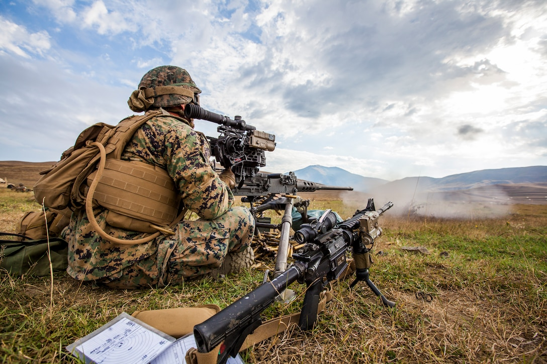 Marines and members of Georgian military participate in combined forces counterinsurgency and peacekeeping operations training exercise Agile Spirit 16 at Orpholo Training Area, Georgia, September 3, 2016 (U.S. Marine Corps/Kyle C. Talbot)