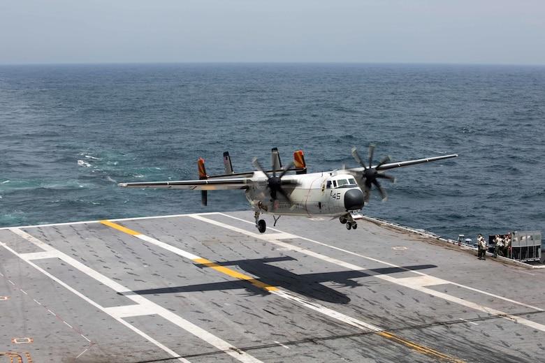 USS John C  Stennis Transfers Supplies from Sri Lanka