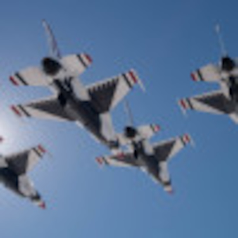 The United States Air Force Air Demonstration Squadron Thunderbirds are scheduled to conduct a flyover during the national anthem performance at Super Bowl LIII, Feb. 3, over Mercedes-Benz Stadium, Atlanta.