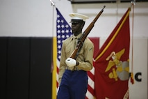 The Commandant's Four, selected and appointed by the Commanding Officer of Marine Barracks Washington D.C., is the official Color Guard entity for the Marine Corps and marches in high-visibility ceremonies across the nation.