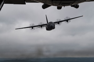 One aircraft flying in the air