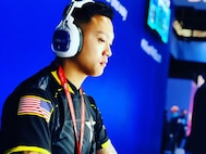 Soldier Playing Video games for Army esports