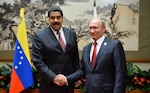 President Nicolás Maduro of Venezuela and President Vladimir Putin discussed bilateral relations and measures to stabilize oil market, Beijing, September 3, 2015 (President of Russia Web site)