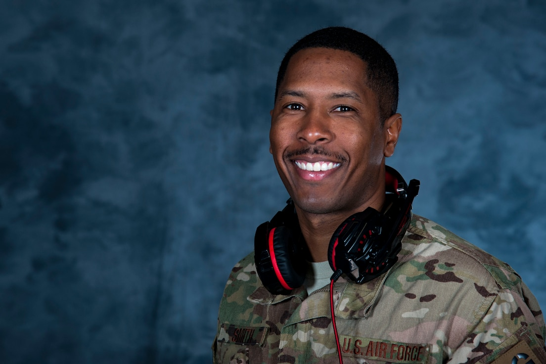 """Investing in his first DJ set less than a year ago, Tech. Sgt. Kerry Smith, 823d Base Defense Squadron unit training manager, has become an entertainer at Moody Air Force Base, Ga., as a DJ.   """"People are my passion,"""" Smith said. """"Anyone who knows me will tell you how I'm all about positivity, trying to make people laugh and motivate them. (Being a DJ) is definitely a way for me to do that. People want me to create an experience for them; I just put my personality into it and try to create the best possible time for them that I can. It's fun to see people dance and having a great time at an event, and I love being able to see people go in different directions listening to different songs. Their reactions to the songs are what motivates me, and I want to create an experience where it's like that the whole time. All in all, it's a great experience, and that encourages me to keep going."""""""