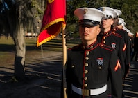 Private First Class Cameron J. Banegas completed Marine Corps recruit training as the honor graduate of Platoon 3002, Company L, 3rd Recruit Training Battalion, Recruit Training Regiment, aboard Marine Corps Recruit Depot Parris Island, South Carolina, January 25, 2019. Banegas was recruited by Gunnery Sergeant Kendrick Reed from Recruiting Substation Lake Worth. (U.S. Marine Corps photo by Lance Cpl. Jack A. E. Rigsby)