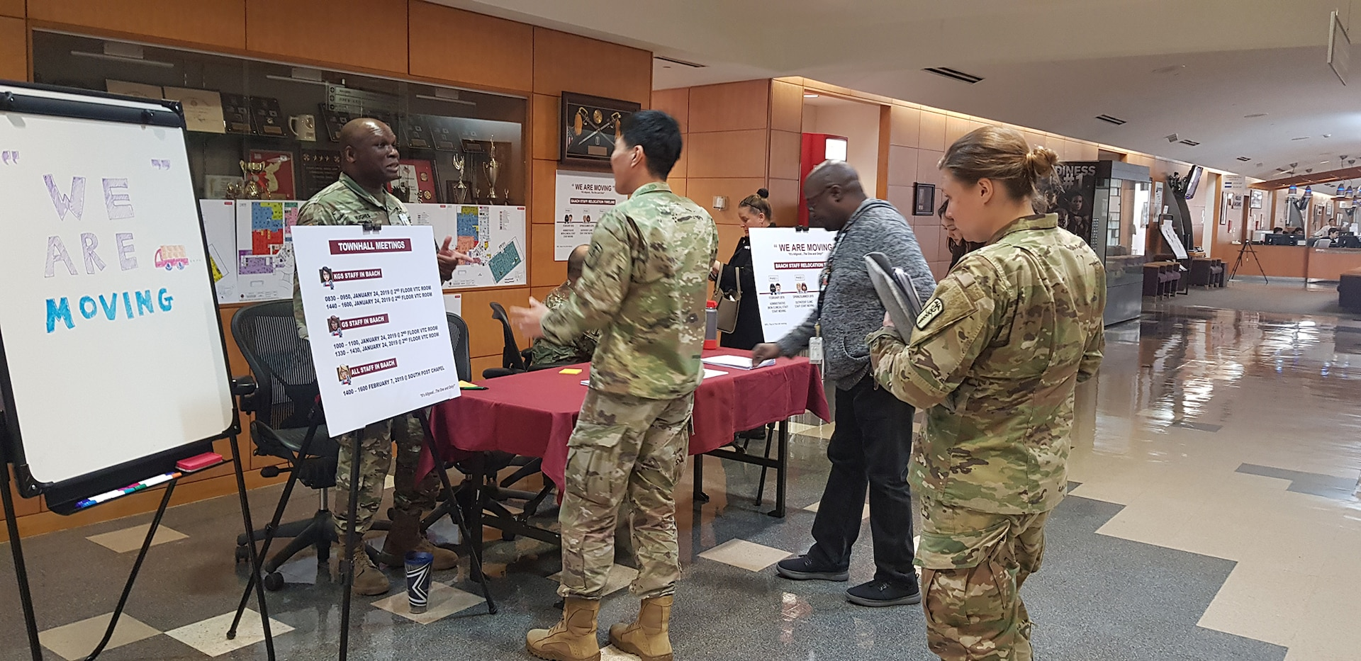 Brian Allgood Army Community Hospital Leadership Initiates Communication about Transition to Camp Humphreys
