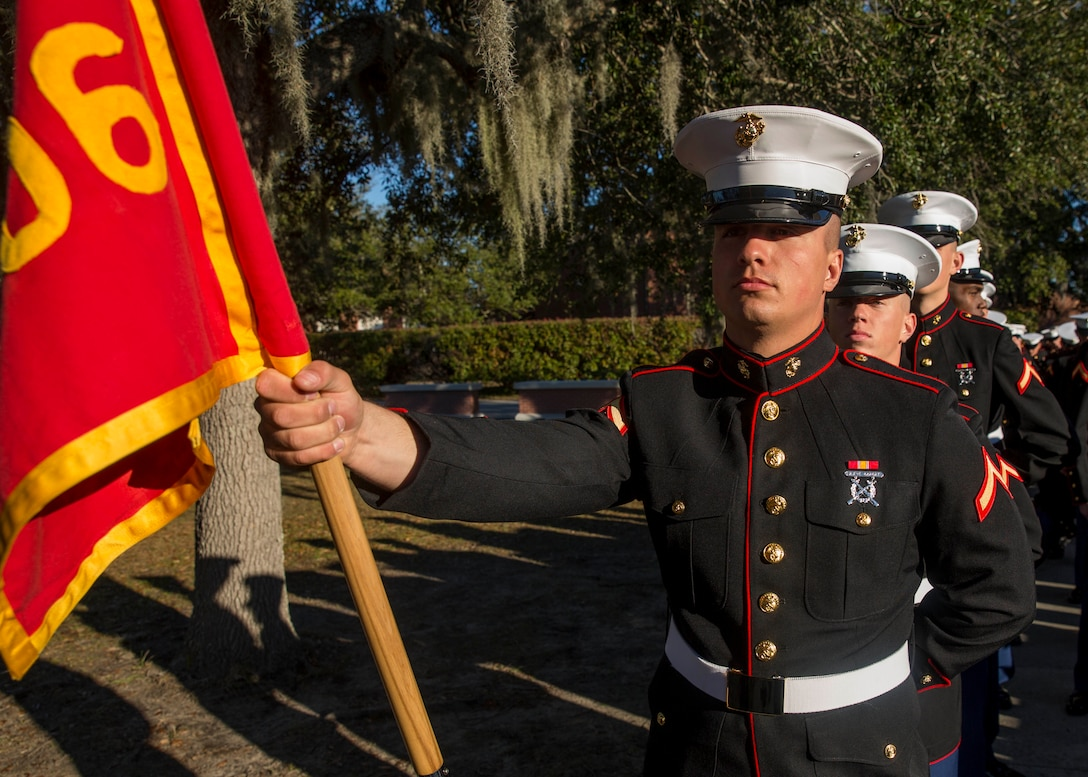Private First Class Ryan J. Brousseau completed Marine Corps recruit training as the platoon honor graduate of Platoon 3006, Company L, 3rd Recruit Training Battalion, Recruit Training Regiment, aboard Marine Corps Recruit Depot Parris Island, South Carolina, January 25, 2019. Brousseau was recruited by Staff Sergeant Joseph D. Knight from Recruiting Substation Tuscaloosa. (U.S. Marine Corps photo by Lance Cpl. Jack A. E. Rigsby)