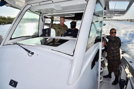 U.S. Navy Adm. Craig S. Faller, commander of U.S. Southern Command, visits Guatemala's Interagency Task Force (IATF) Tecún Umán Jan. 24.