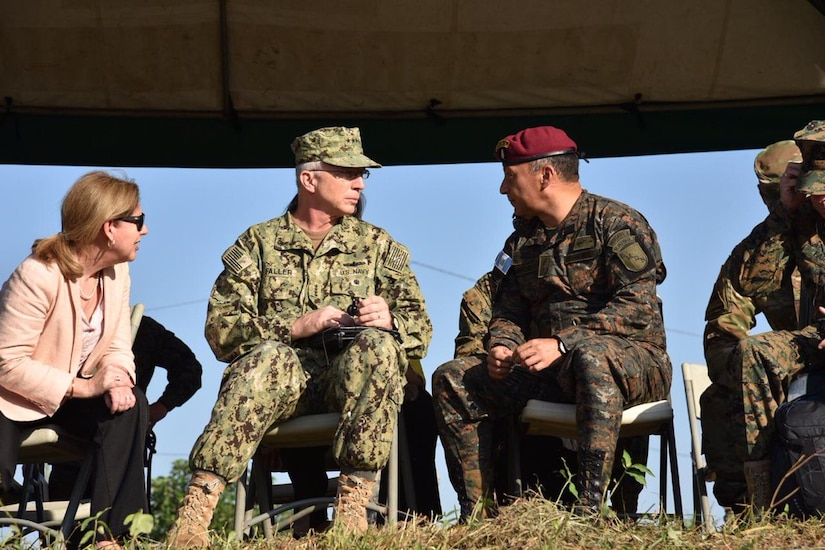 U.S. Navy Adm. Craig S. Faller, commander of U.S. Southern Command, visits Guatemala's Interagency Task Force (IATF) Tecún Umán Jan. 24.