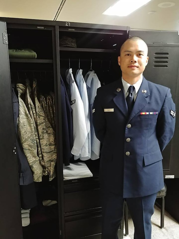 Senior Airman Joe Chau, 718th Intelligence Squadron cyber systems operations technician, was voted Most Outstanding Airman by his flight peers during basic military training.