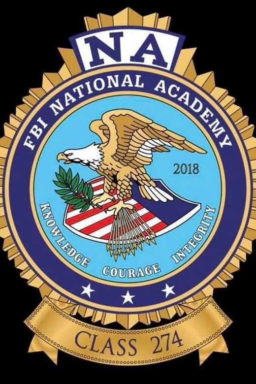 FBI National Academy class logo of Master Sgt. Elizabeth Rodenhauser, 341st Missile Security Forces Squadron NCO in charge of operations. Rodenhauser graduated the FBINAA December 14, 2018. (Courtesy photo)