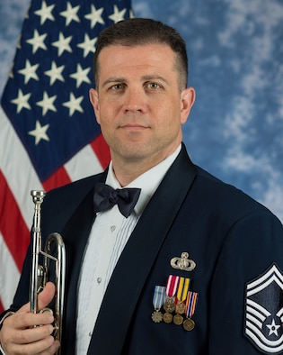 Official photo of Senior Master Sgt. Christian Pagnard, trumpeter with The United States Air Force Band, Joint Base Anacostia-Bolling, Washington, D.C.