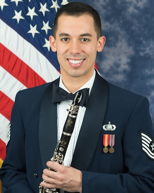 Official photo of Technical Sgt. Joseph Velez, clarinetist with The United States Air Force Band, Joint Base Anacostia-Bolling, Washington, D.C.