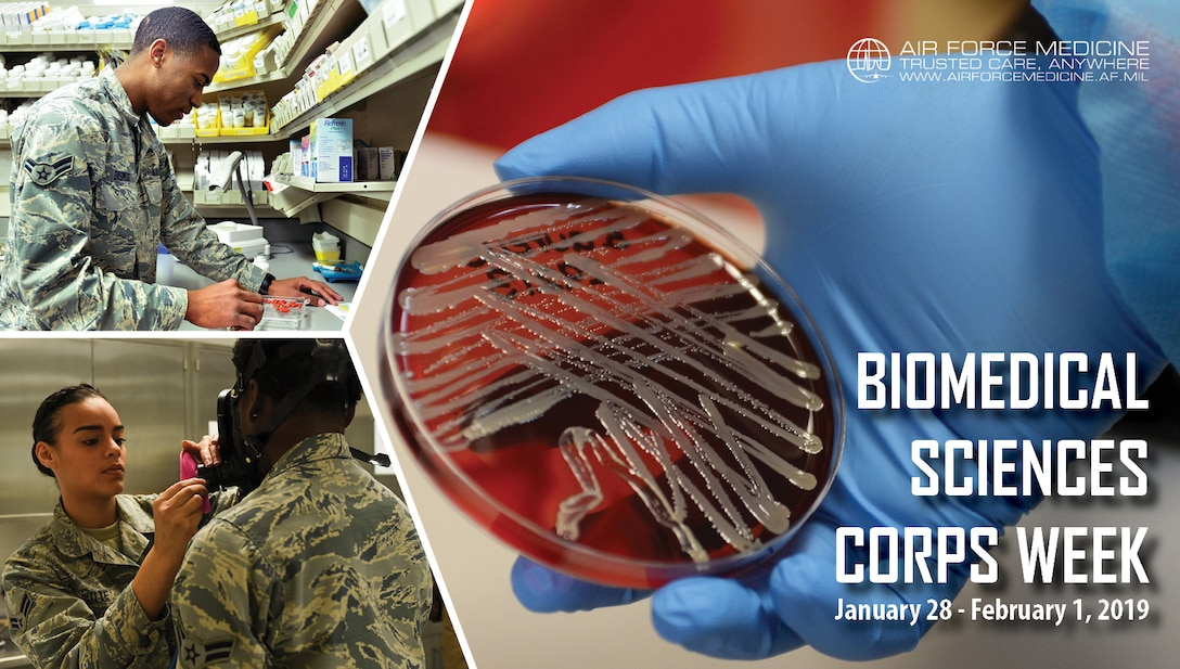 The Air Force is recognizing the achievements of the men and women who comprise the Biomedical Sciences Corps by designating Jan. 28 through Feb. 1, 2019, as BSC Week. (U.S. Air Force illustration)