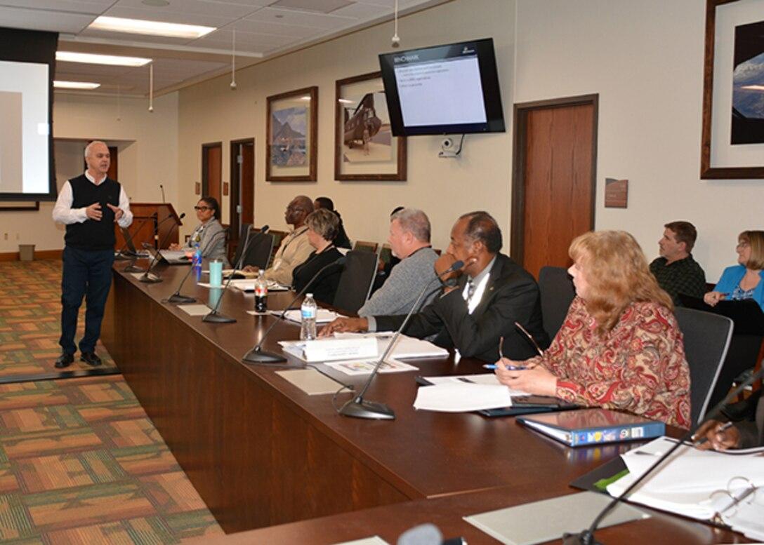 Jay Richards speaks with DLA Aviation senior leaders