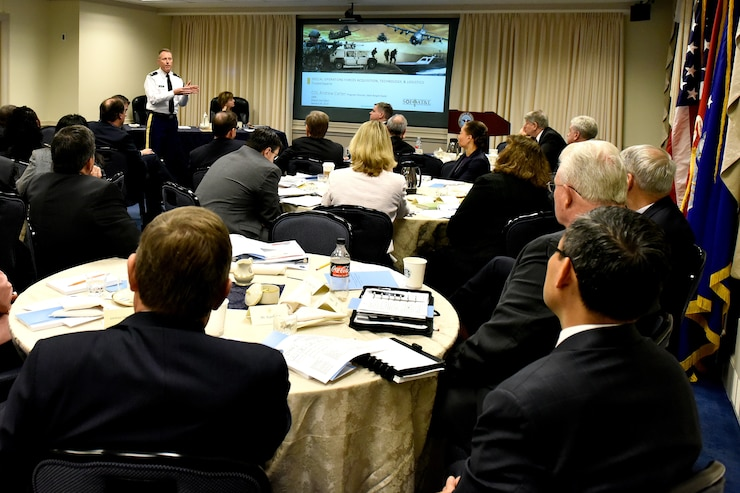 COL Carter briefs category management reform to the Defense Agencies and Field Activities leadership.