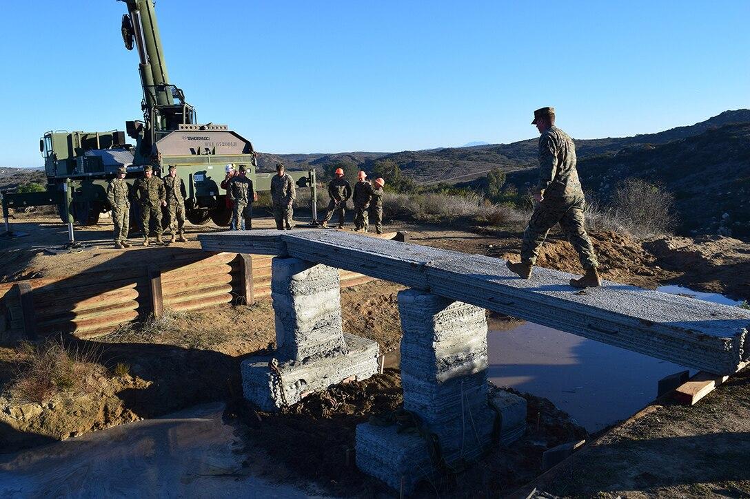 Bringing innovation to fruition: Marines 3D print 1st reinforced concrete bridge in western hemisphere