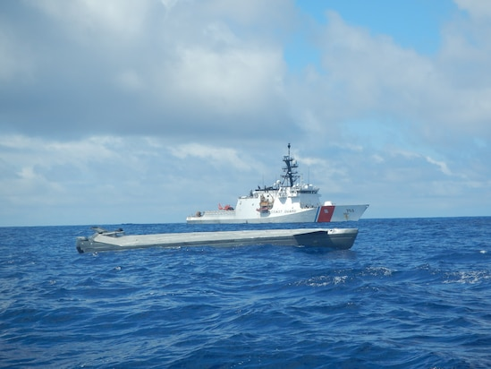 Coast Guard Cutter Hamilton interdicts a go-fast vessel smuggling contraband bound for the United States while in the Eastern Pacific Ocean.