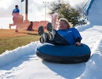 Joint Base San Antonio Community Programs hosted the annual Snow Fest celebration at the JBSA-Lackland Amphitheater on Jan. 25, 2019. Hundreds of military members and their families enjoyed giant snow slides, a snow play area, interactive activities, music and all kinds of food vendors.