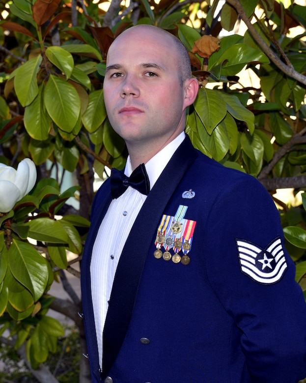 U.S. Air Force Tech. Sgt. David Lavallee, 517th Training Group executive support section chief, was selected for the Senior Leader Enlisted Commissioning Program at Presidio of Monterey, California. SLECP is a commissioning program which enables designated Air Force senior leaders to directly select enlisted to commission through Officer Training School. (Courtesy photo)