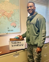 Airman Donates To Help The Homeless