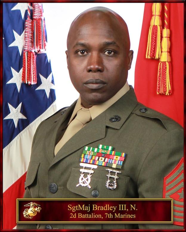 SgtMaj Nathaniel Bradley