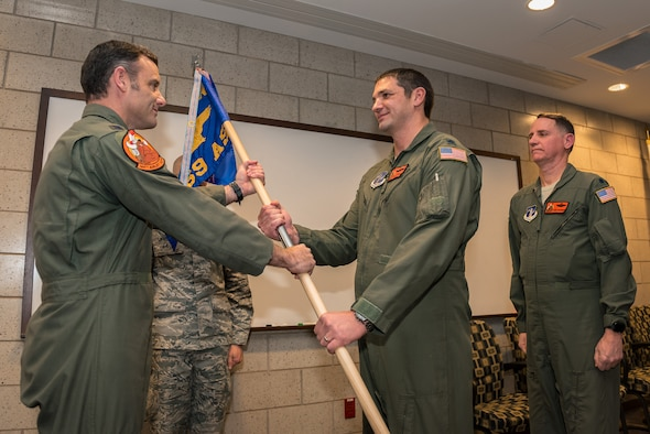 New command receives guidon.