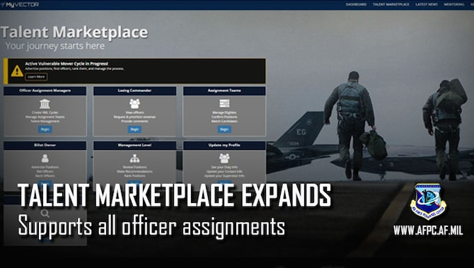 Talent Marketplace expands, supports all officer assignments
