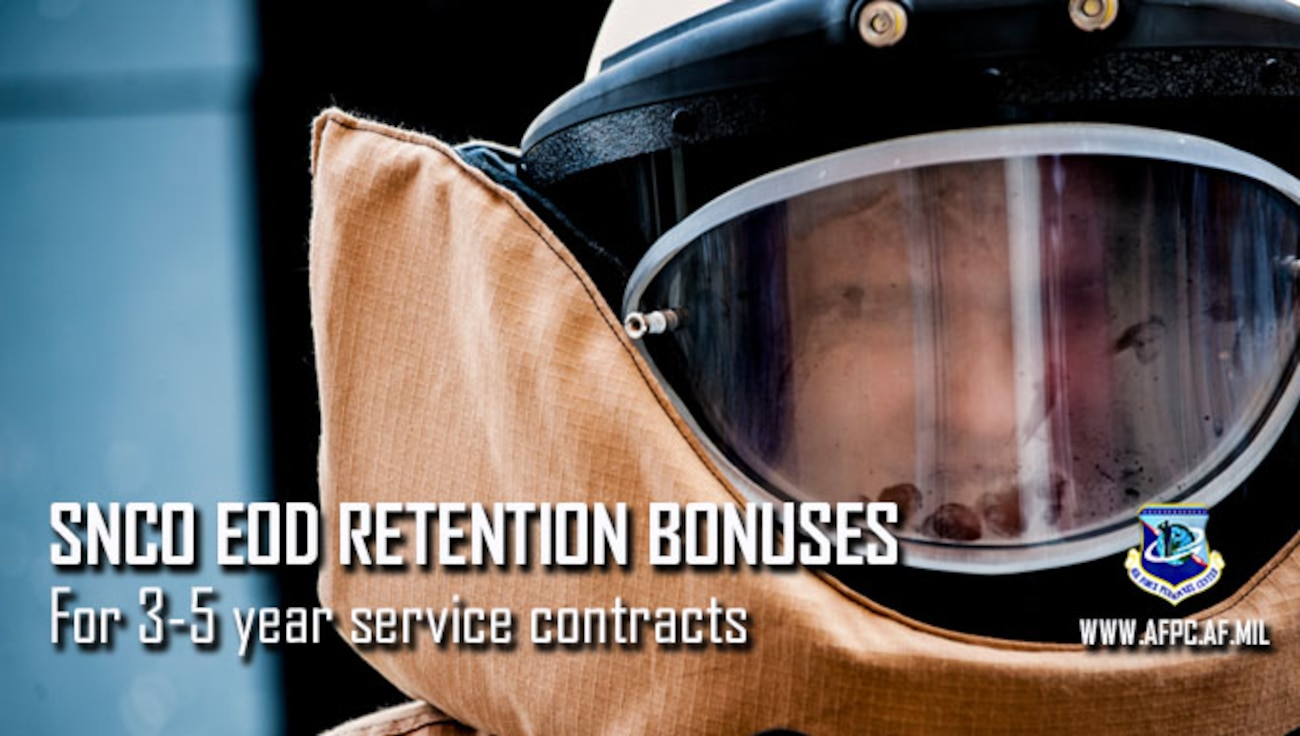Senior NCO EOD retention bonuses for 3-to-5 year service contracts