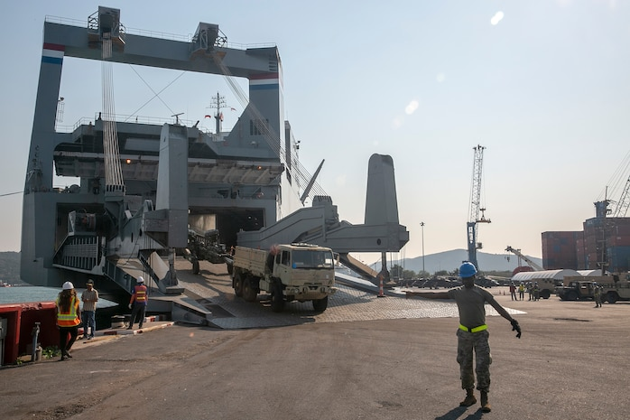 Military Sealift Command-Charter Cape Hudson Sails the Pacific Pathways, Delivers for Cobra Gold