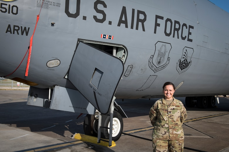 Lt. Col. Jessica Guarini, 22d Expeditionary Air Refueling Squadron commander, poses for a photo on June 6, 2019, at Incirlik Air Base, Turkey. Guarini's leadership style focused on taking care of her Airmen and was deeply rooted in three beliefs including: extreme ownership, accountability and empowerment at all levels. (U.S. Air Force photo by Staff Sgt. Ceaira Tinsley)