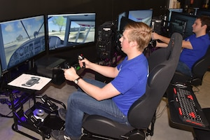 DAYTON, Ohio -- Flight Simulator used as part of a training class provided by the museum's education division. (U.S. Air Force photo)
