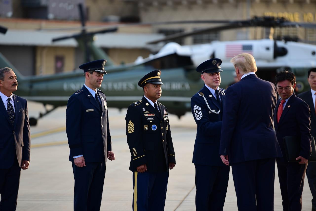Man shakes hands