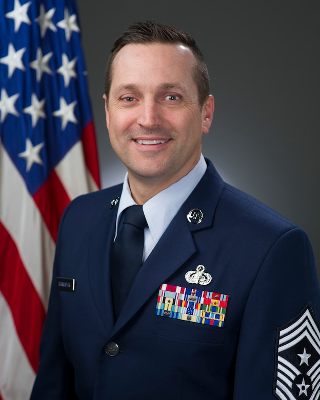 Chief Master Sgt. Jimmy Brumeister, 349th Air Mobility Wing command chief, shares some thoughts on leadership and stresses the importance of innovation. (Courtesy Photo)