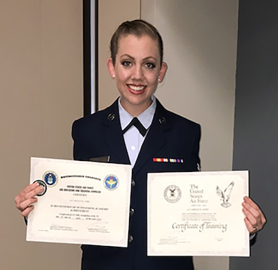 Airman 1st Class Ashley Gibbs, 718th Intelligence Squadron, has been striving in her Air Force Reserve career since she joined the military in 2018.