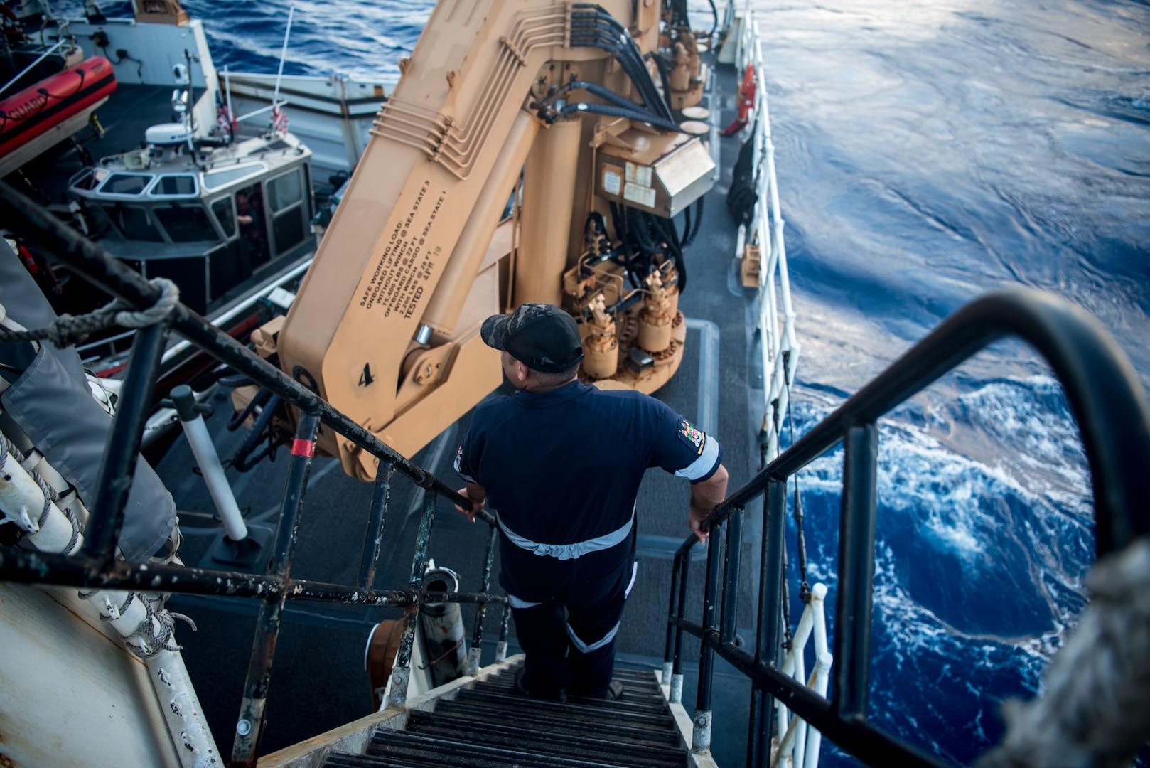 U.S, Coast Guard National Security Cutter Visits Jiji