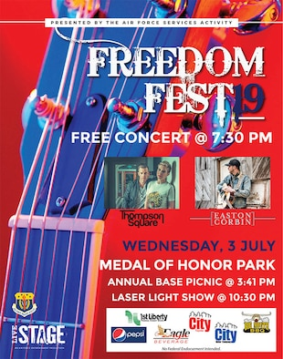 Malmstrom Air Force base will be hosting its annual base picnic, a free concert and laser light show July 3rd, 2019.