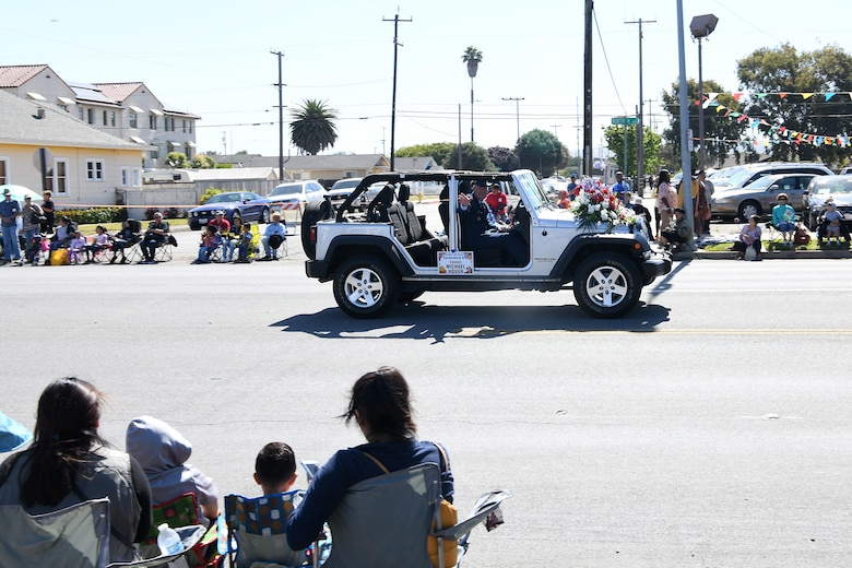 Col. Michael S. Hough, 30th Space Wing commander, prepares for the 2019 Lompoc Flower Festival Parade June 29, 2019, in Lompoc, Calif.