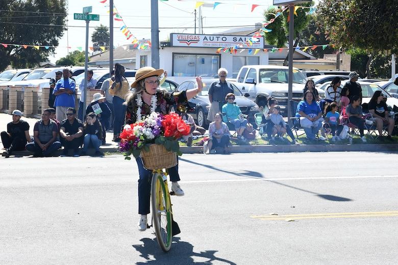 Jenelle Osborne, Lompoc Mayor, participates in the 2019 Lompoc Flower Festival Parade June 29, 2019, in Lompoc, Calif.