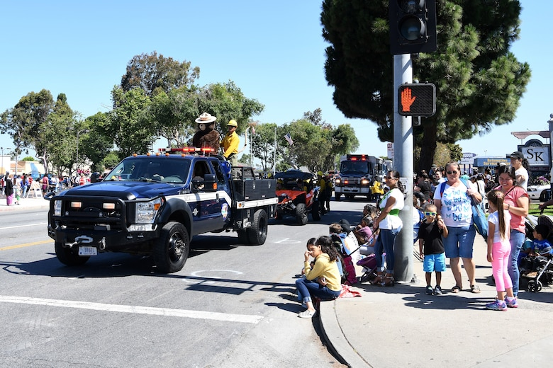 Members of Lompoc participate in the 2019 Lompoc Flower Festival Parade June 29, 2019, in Lompoc, Calif.