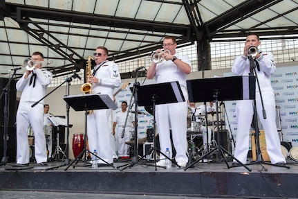 A band performs a concert.