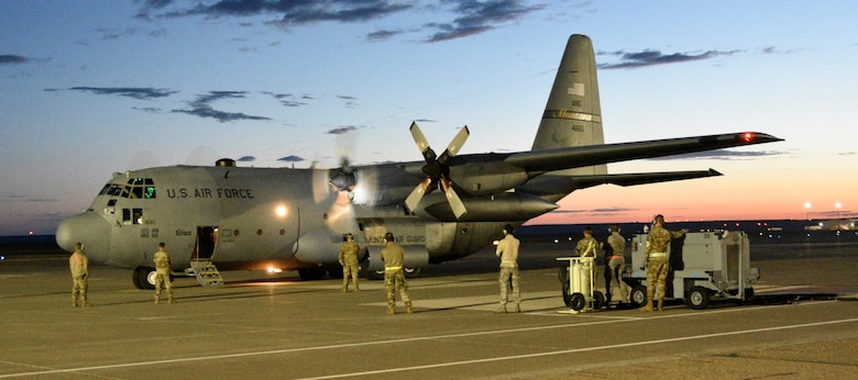 Airmen from the 120th Airlift Wing board a C-17 from Travis Air Force Base June 28, 2019 that took them to Southwest Asia. Approximately 130 Airmen and four C-130s will spend four months on this deployment.