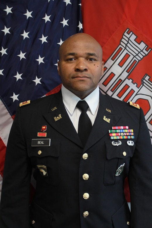 Maj. (P) Christopher O. Beal enlisted in the Texas Army National Guard, HHC 176th Engineer Battalion in 1997 and completed Basic and the Advanced Individual Training (AIT) at Fort Leonard Wood, Missouri, as a combat engineer.